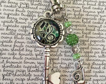Musical Notes key bag charm