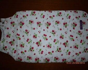Sleeping bag printed pattern strawberries and cherries ref: 7167157