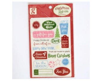 Christmas decals perfect for your cards and Christmas designs - rubons 000614