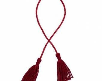 Red tassel + cord
