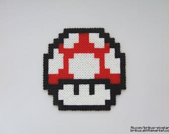 Mushroom Super Mario (Pixel art in Hama beads)
