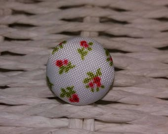 1 attractive button blooms fabric xxxx