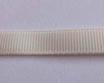 White grosgrain Ribbon off 10mm wide