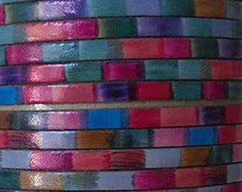 20 cm Strip flat leather 5mm wide stripes