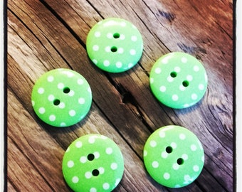 Set of 5 buttons dot embellishment scrapbooking