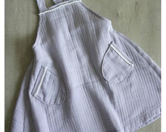 Dress cotton with straps - 6 years