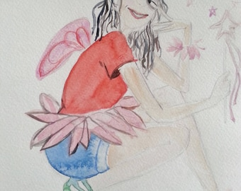 Watercolor fairy (McLaughlin margaux style)