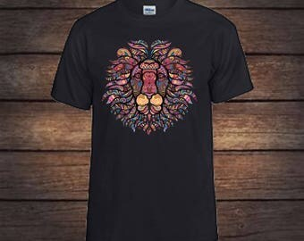 Mosaic lion T-shirt, lion print,lion art print,king of the jungle,gift for her,gift for mom,birthday gifts,shirts,tshirts,gifts for women