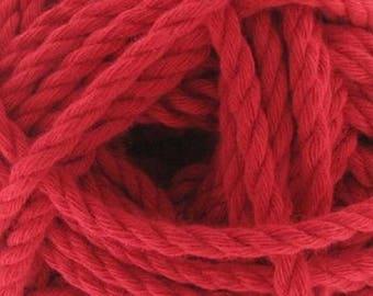 Wool Cotton Cord red (69) Katia - 100 g skein