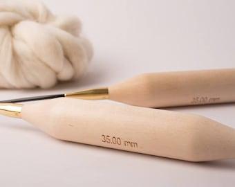 "Large circular needles N ° 35 ""natural"""