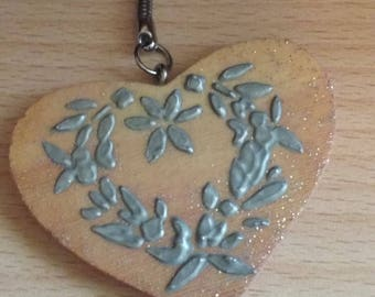 Wooden - romantic keychain