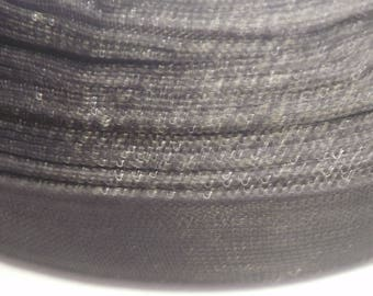 5 m black 10 mm organza Ribbon