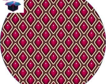 1 cabochon clear 25 mm geometry theme pink