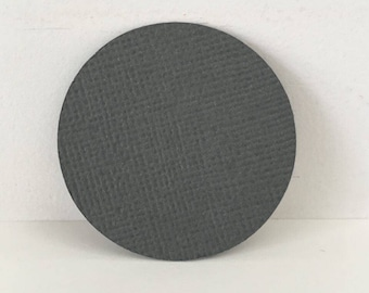 Cut - Set of 50pcs - 40mm grey round