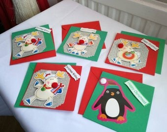 Pack of 5 4x4 Christmas cards