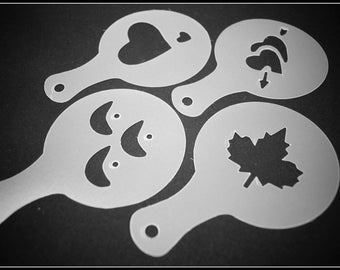 Set of 4 stencils - special coffee - shape 4