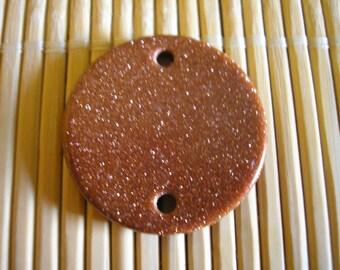Stone round semi precious gold stone