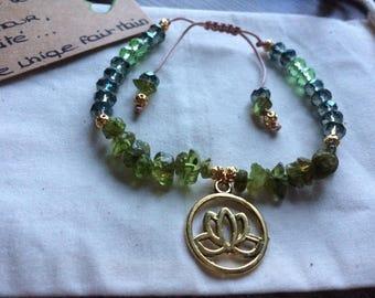 Handmade Peridot bracelet
