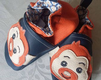 """Liner (15 / 18 months..) (size 21 22) leatherette """"the little monkey"""