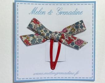 1 hair clip - Clack little knot Liberty Emilia's flowers