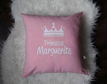 Personalized Princess tiara pillow cover