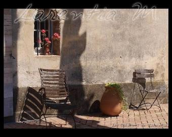 Photo 30X40cm beausset var Provencal terrace