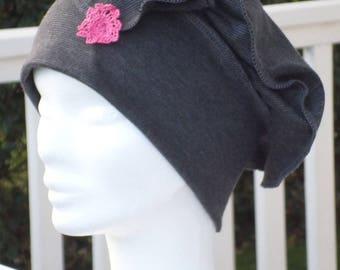 Turban Hat women grey jersey Hat