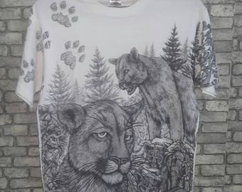 Vintage rare 90s allover print t shirt