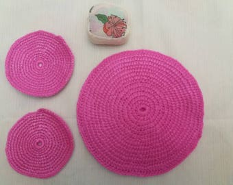 Trivet set more pot holders more Pincushion