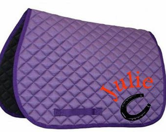 Customize horse saddle pad