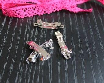 3 Bobby hair clip silver