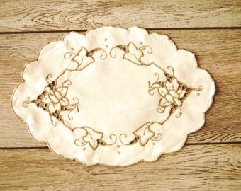 French vintage doily, old linens, shabby chic style decor