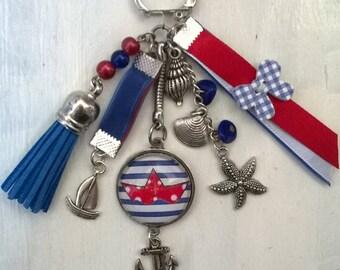 marine-theme Keyring or bag charm