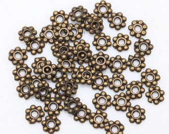 400pcs beads 4mm Daisy spacer Rondelle