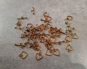 5 heart 17 mm toggle clasps