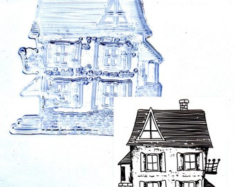 """Pattern """"House 2"""" clear stamp"""