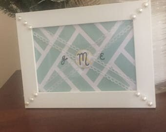 Monogrammed Frame Decor