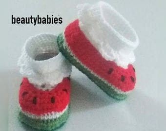 baby Strawberry slippers size 3 months