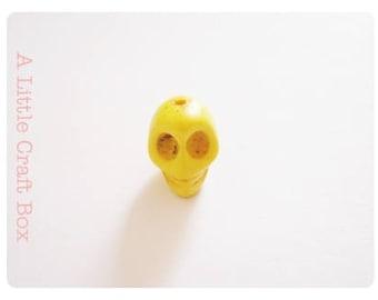 """5 beads """"skull"""" - yellow"""