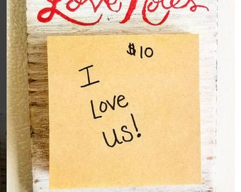 Love Notes Refrigerator Magnet with Post-It Notes