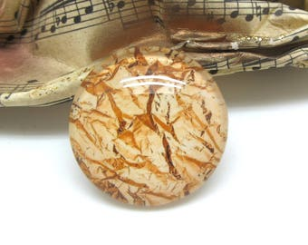 1 cabochon 25 mm glass 3-25 mm Gold Collection