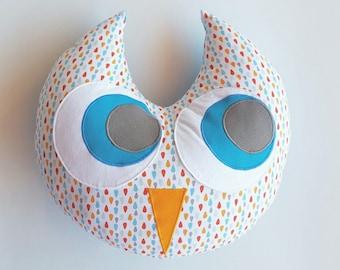 Cotton OWL pillow blue 33cm