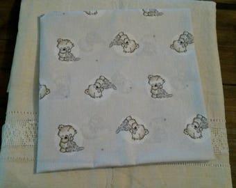 Cut of fabric 50 X 50 cm / kids fabric / patterns bears / teddy bear / fabric country spirit