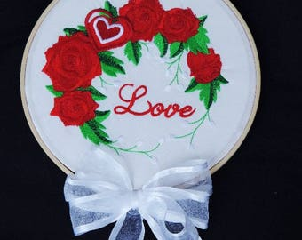 """Round frame """"Love"""" Valentine gift idea"""