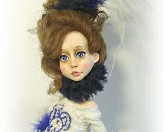 Art doll Désirée, collectible doll, rag doll, OOAK art doll artist