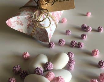 Wedding Pillow Box-cardboard Confetti-wedding favor-Bonbonnière