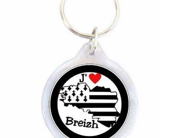 Keychain I love Breizh - keychain