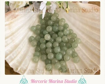 aventurine 8mm natural pearls 10 beads