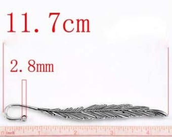 Silver feather bookmark