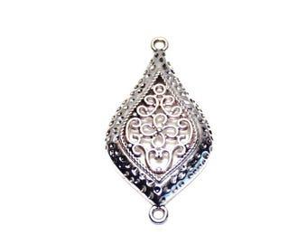 Nickel silver metal connector pendant